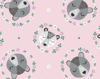 Ours, mère et enfant, Bear Hug, 21181502, col 03, Camelot Fabrics, 100% Cotton