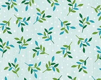 Leaf Spring, light blue, Benartex, Style 07575, cotton, cotton quilt, cotton designer