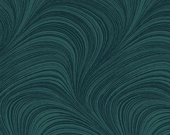 Wave, blue jeans et gray silver, #2966P, Benartex, cotton, cotton quilt, cotton designer