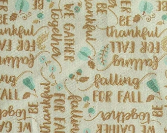 SALE, Ode to Fall, brown, turquoise, white, 66180206, col 02, Autumn Impressions, Camelot Fabrics, cotton, cotton quilt, (Reg 3.76-21.91)
