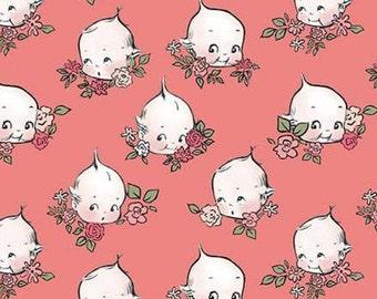 Sew Kewpie of Riley Blake Designs, CORAL, #10542, fabric, cotton, quilt cotton