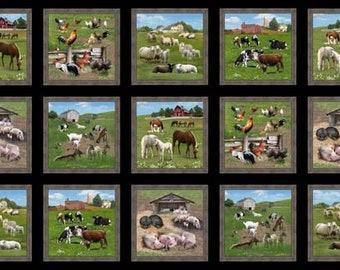 "Panel, 24""X44"", Animals, 557, Élizabeth's Studio, 100% Cotton, (Reg 13.15)"