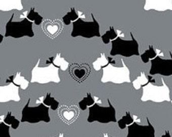 Scottie chevron, gray, Dotty for Scottie, Kanvas, 7890, Benartex, cotton, cotton quilt, cotton designer