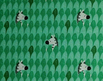 SALE, Zebra, seafoam, 21180905, col 03, Peek-A-Boo, Camelot Fabrics, 100% Cotton, (Reg 3.76-21.91)