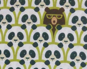 Panda, lime, teal, white, 160107, cotton, cotton quilt, cotton designer