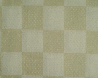 Fabric Damier, beige, cream, Rudia Collection, Pribang Fabrics, cotton, cotton quilt, cotton designer