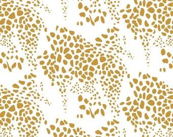 Leopard, gold, white, Safari Dream, 29180104, col 02, Camelot Fabrics, cotton, cotton quilt, cotton designer