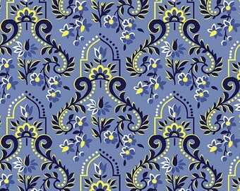 Baroque Blue, Somerset, 6790, col 50, Benartex, cotton, cotton quilt, cotton designer
