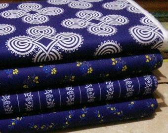 4 prints, Somerset, Benartex, bundle, 1 of each