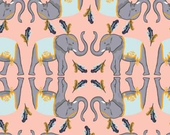 SALE, Elephant, pink, Night Circus, 29180302L, col 01, Camelot Fabrics, cotton, cotton quilt, cotton designer, (Reg 3.76-21.91)