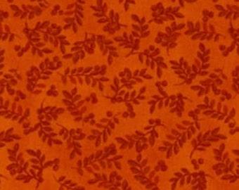 Leaf, orange, Harvest Berry, Benartex, 07563, col 039, cotton, cotton quilt, cotton designer