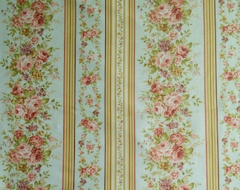 Fabric, Border Stripe Sage, Zelie Ann, #06718, 46, Benartex, 100% cotton, cotton quilt, cotton designer
