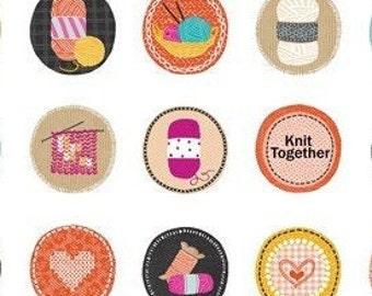 Knitting Circles, #07877, 09, Benartex, 100% cotton, cotton quilt, cotton designer