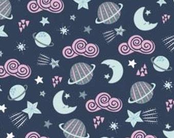 Planets, navy, 61180302, col 02, Celestial Zodiac, Camelot Fabrics, cotton, cotton quilt, cotton designer