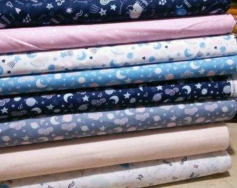 SALE, Bundle, 8 motifs, Celestial of Camelot Fabrics, quilt cotton, (Reg 30.08-136.43)