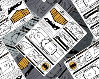 Batman, Batmobile, 23200121, col 01, Camelot Fabrics, cotton, cotton quilt, cotton designer, (Reg 4.61-26.99)