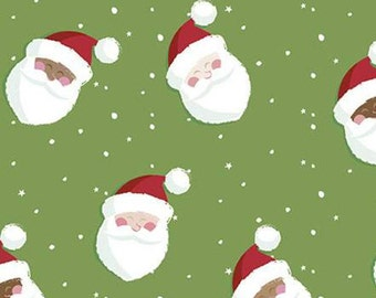 Holly Holiday, Riley Blake Designs, Christmas fabric 100% cotton, #10881 BASIL
