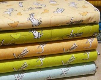 Bundle, 5 prints, The Jetsons of Camelot Fabrics, Quilt cotton