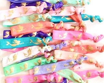 Birthday Party Favors Bulk Hair Ties Mermaid Party Mermaid Birthday Party Mermaids Hair Ties Mermaid Birthday Mermaid Mermaid