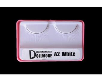 Doll eyelashes - White A2 / 2.5 x 1.3 cm / Doll More