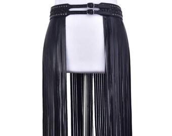 Fashionable PU tassel belt skirt #BLT18001