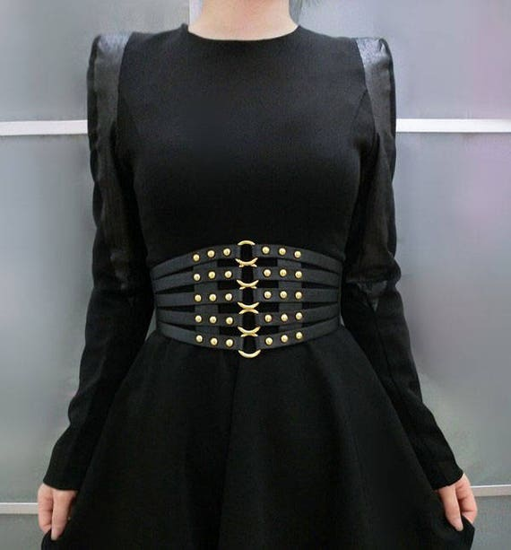 Fashionable Pu Waistband, Waist Corset Belt With Metal Rings And Rivet At Front #Bt17010 by Etsy