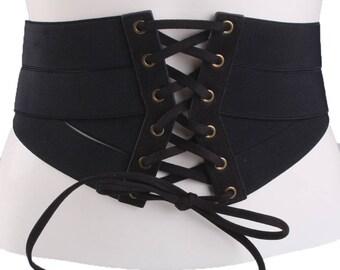 Elastic waist corset belt  #BLT17017