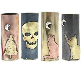 Custom Metal lighter case, with bottom, Copper,Brass, Silver, metal lighter sleeve,brass lighter case,weed accessory, Handmade by MsJenAmaze