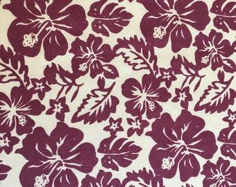 Hawaiian fabric purple hibiscus fat quarter