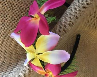 Hawaiian plumeria headband