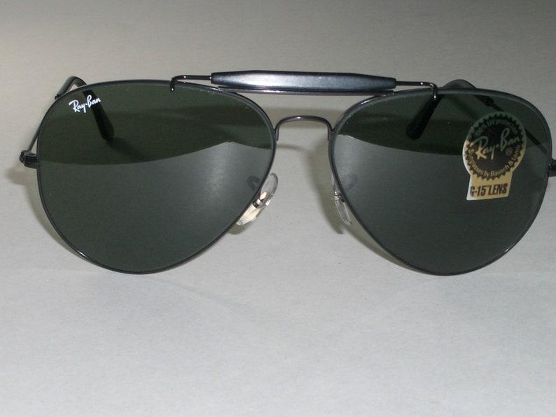 79fb49244610a 5814mm Vintage B L Ray-Ban USA Black Chrome G15 UV
