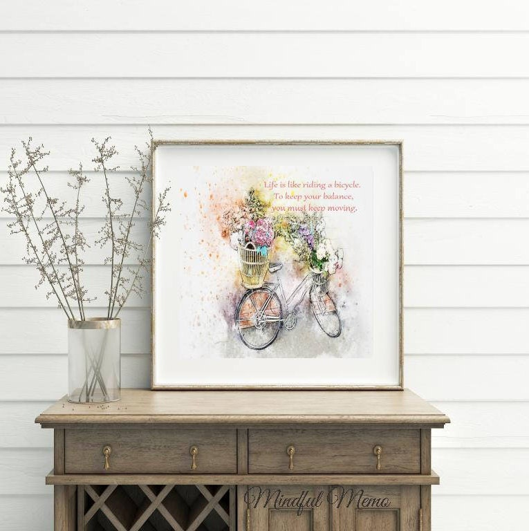 Albert Einstein Quotes Life Is Like Riding A Bicycle: Albert Einstein Life Is Like Riding A Bicycle... Printable