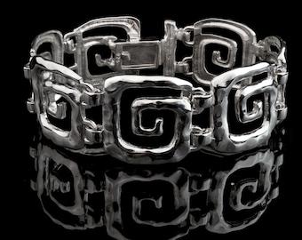 Greek Key Meander Bracelet in Sterling Silver, Meander Bracelet, Sterling silver bracelet, Greek Key bracelet, Greek Jewelry