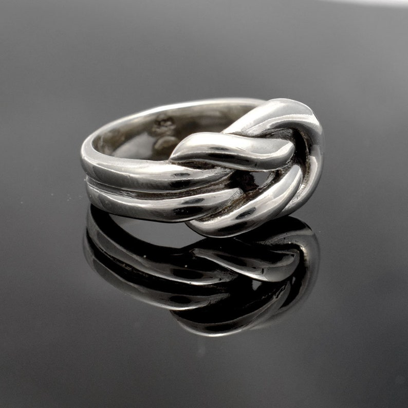 Sterling Silver Knot Ring Love Ring Love Knot Ring Bridal  28aad48f5
