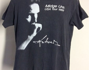 fab28a4c1df Vtg 1989 Midge Ure Answers To Nothing Concert T-Shirt M 80s Ultravox Visage  Synthpop