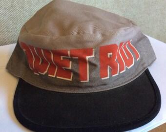 a3758d19427 Vtg 1984 Quiet Riot Painter Baseball Cap M L 80s Heavy Metal Rock Band Hat