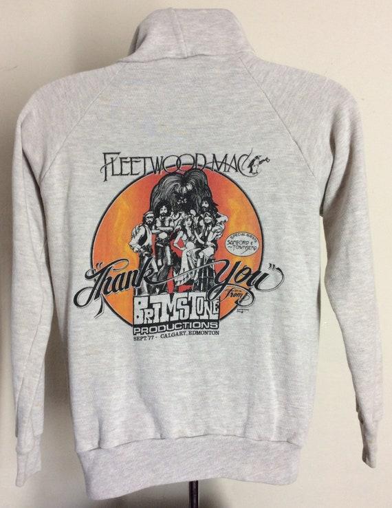 Vtg 1977 Fleetwood Mac Concert Sweatshirt Heather
