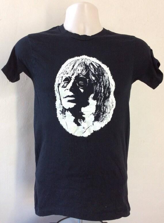 Vtg 1977 John Denver T-Shirt Black XS/S 70s Folk C