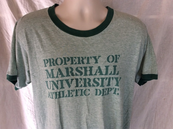 Vtg 70s 80s Property Of Marshall University Athlet