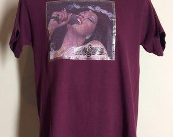Vtg 70s 80s Donna Summer Iron-On T-Shirt M/L Disco Giorgio Moroder