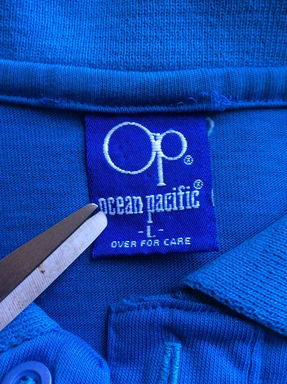 Vtg 80s OP Ocean Pacific Embroidered Logo Polo Sh… - image 6