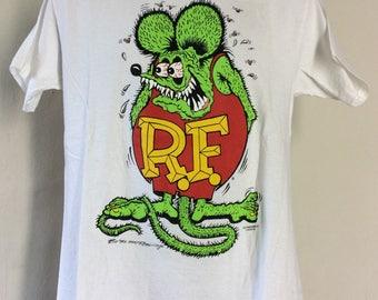 Vtg 1990 Rat Fink Ed Big Daddy Roth T-Shirt White M 90s Punk Rock Rockabilly
