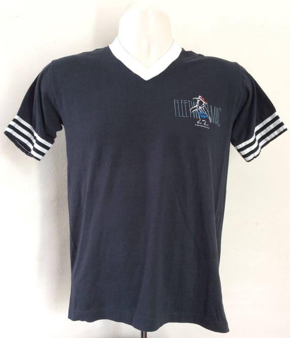 Vtg 1982 Fleetwood Mac Ringer T-Shirt Black S 80s