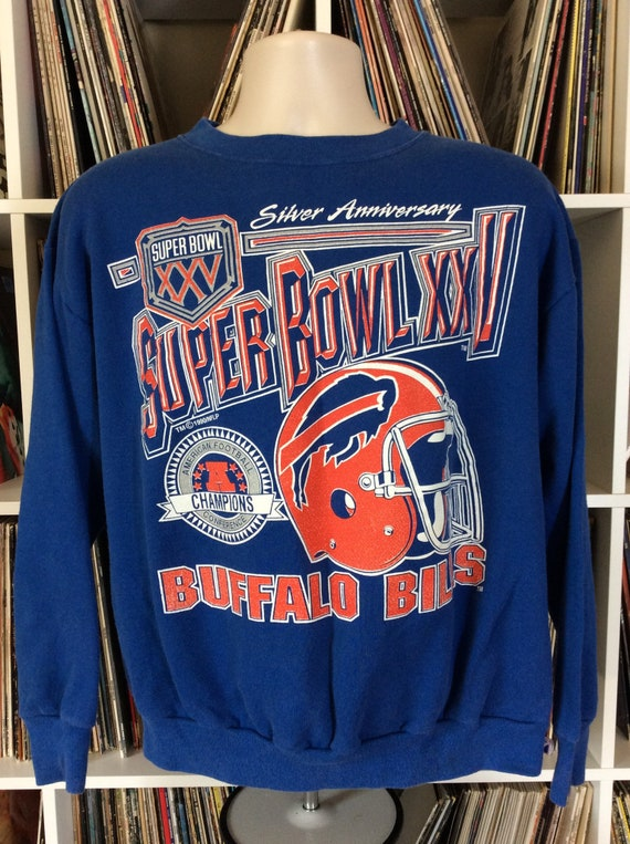 Vtg 1990 1991 Buffalo Bills Super Bowl XXV Sweatsh