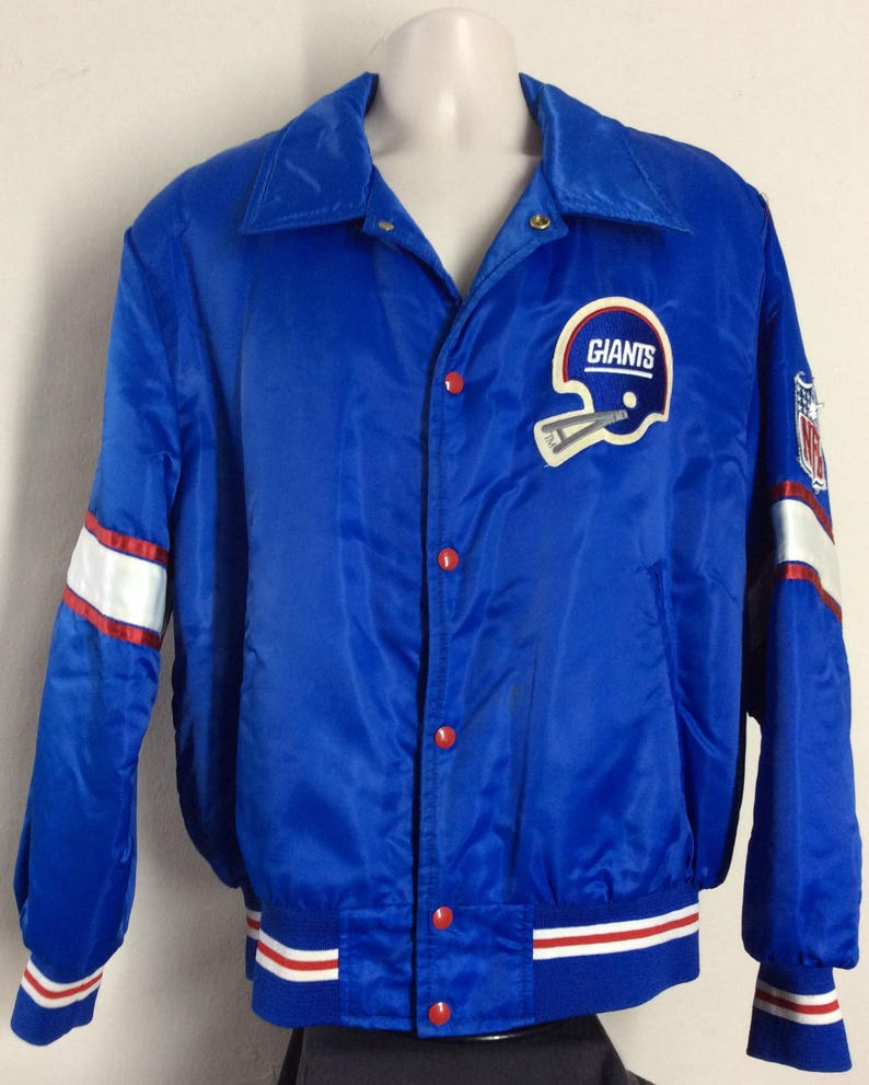reputable site 491e9 4b3ce Vtg 70s Early 80s Shain Of Canada New York Giants Jacket Blue L NFL Football