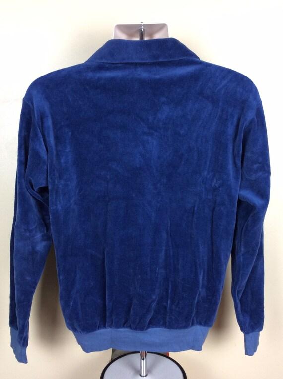 Vtg 70s 80s Trumpeter Quarter Zip Velour Sweater … - image 3