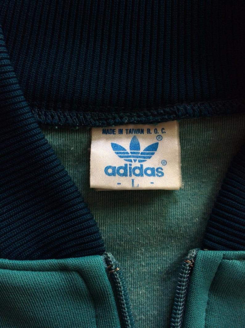 VTG 80er Adidas Raglan Track Jacke grün L Hip Hop