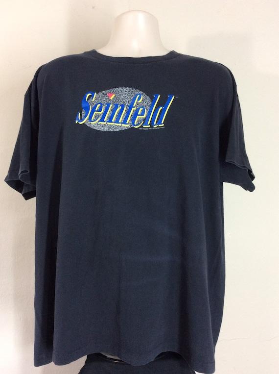Vtg 1992 Seinfeld T-Shirt Black XL/XXL 90s TV Show