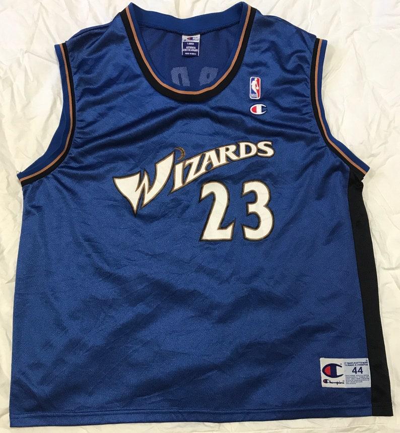 700552ce6e7 Michael Jordan 23 Wizards Champion Jersey Size 44 | Etsy