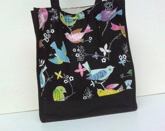 20% OFF for this black shoulder bag with birds